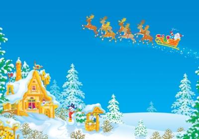 Der Weihnachtsmann zieht in den Himmel